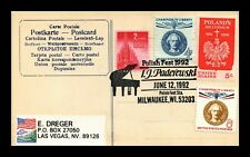 DR JIM STAMPS US POLISH FEST MILWAUKEE WISCONSIN POSTCARD PICTORIAL CANCEL 1992