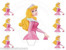Large +Small Princess Aurora Stands-Up Cake&Cupcake Fairy Toppers Edible Wafer