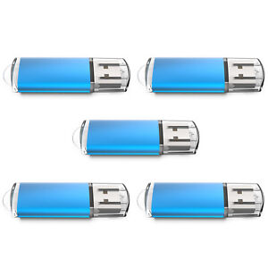 5Pack 1GB USB 2.0 Flash Drives USB Memory Stick Thumb Storage Pen Drives U Disk