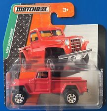 LIMITED RELEASE 2015 Matchbox 1951 JEEP WILLYS 4x4 PICK-UP TRUCK - Mint card!