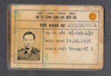 Vietnam War Era Arvn Active Policeman Id 1969