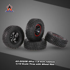 4Pcs AUSTAR AX-3020B 1.9 Inch 103mm 1/10 Scale Tires with Wheel Rim for D9R5