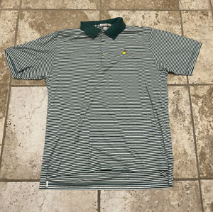 peter millar masters Striped Golf polo size Large