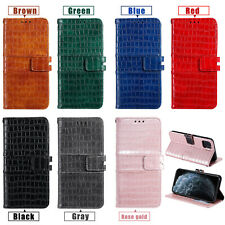 For iPhone 11 X XR Max Nokia 7.2 Crocodile Stand Leather Wallet Case Card Cover