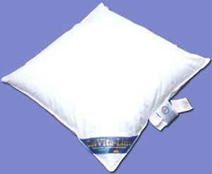 Sluka Kopfkissen Kissen 80x80 cm - 100 % Federn, Klasse I - weiß