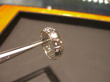 NEW MEN'S FINE DIAMOND BAND 0.20 CARAT WHITE GOLD RING SIZE 7.5 NEW WOW!!!!