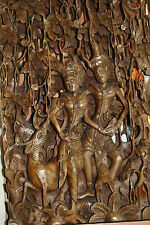 Large Detailed Balinese Bali Wood Carving - WHOA!