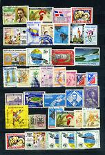 COLLEZIONE REPUBBLICA DOMINICANA LOTTO  30 + 10 DOPPI  Stamps timbres