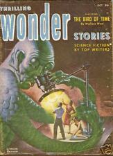 Thrilling Wonder Stories October 1952 VG- The Bird of Time