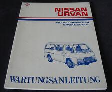 Werkstatthandbuch Nissan Urvan Typ E24 Wartungsanleitung Stand 1989