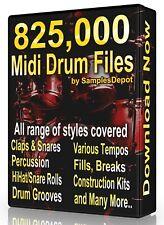 825,000 Drum Midi Pack Collection 2021 Logic, FL Studio, Reason, Ableton Cubase