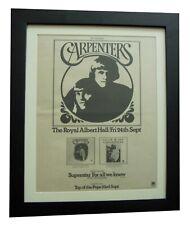 CARPENTERS+Superstar+ALBERT HALL+POSTER+AD+ORIGINAL 1971+FRAMED+FAST GLOBAL SHIP
