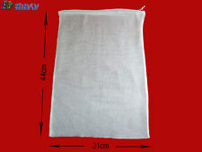 HOME BREWING 100% COTTON MUSLIN DRAW CORDED BAG (17in x 12in)apx.