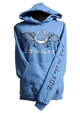 Horseshoe Horse Hoodie,LIVE for the RIDE, S,cotton,womens,Colonial,sweatshirt,