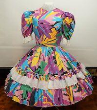 TROPICAL PRINT SQUARE DANCE DRESS
