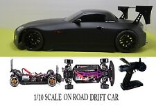 1/10 Scale Honda S2K RTR Custom RC Drift Cars 4WD 2.4Ghz & Charger FLAT BLK