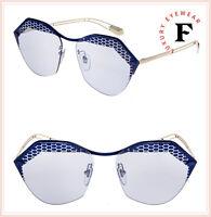 BVLGARI SERPENTEYES BV6109 Gold Matte Blue Scales Metal Sunglasses 6109