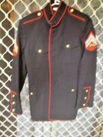 E4 USA ARMY JACKET WITH STRIPES CROSSED RIFLES VGC SIZE 37R MILITARY ARMY