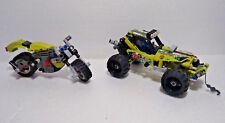Lego technic set 42027 buggy voiture cross + moto n° 34 vert