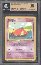 2000 Pokemon 1ST EDITION *** SLOWPOKE *** BGS BECKETT 10 PRISTINE EXTREMELY RARE