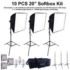 10PC Photo Studio Softbox Light Kit Photography Video Soft Box w/ LED/CFL Socket