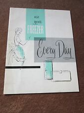 Vintage 1950's Dow Chemical Saran Wrap Use Your Freezer Every Day 1959 Booklet