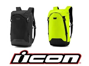 """2020 ICON SQUAD 4 MOTORCYCLE BACKPACK - 21""""H x 11""""W x 8""""D - REFLECTIVE"""