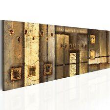 100% Handgemalt – Gemälde / Bilder Leinwand 3 Teile Abstrakt 150x50 93182_MK