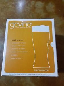 Govino Beer Reusable Plastic Shatterproof Glasses Pk Of 4 NIB