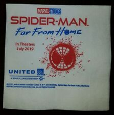 Spider-Man Far From Home United Airlines single napkin, promo from United only