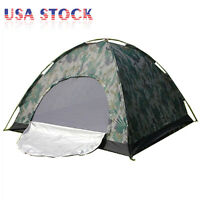 Outdoor Camping Waterproof 4 Season 2 Person Folding Tent Camouflage Hiking