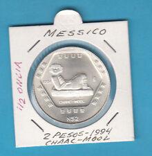 MESSICO LIBERTAD MEZZA ONCIA SILVER 999,9 1994 ARGENTO CHAAC-MOOL 2 PESOS