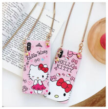 Hello Kitty Doll  iPhone x Case With Crossbody Strap Holder
