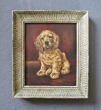 Listed Artist Luis M. Henderson (20thc) Oil Dog Portrait Painting Cocker Spaniel