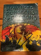 OFFICIAL ADVANCED DUNGEONS AND DRAGONS: COLORING ALBUM By Gary Gygax GOOD