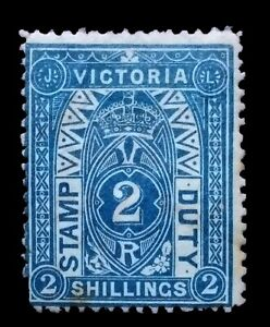 SG258a - 1884 Victoria Deep Blue/green Two Shillings Stamp Duty Mint CV$700 - 72