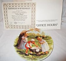 "8½� Knowles ""Office Hours� Collector Plate - Signed By Jeanne Down's Coa"