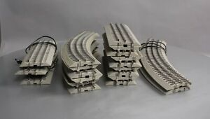 Lionel O Gauge Assorted Curved & Straight FasTrack Sections (20) EX