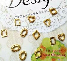 10/20pcs 3D Gold Metal Alloy Hollowout Lace Frame Nail Art DIY Decoration Charms