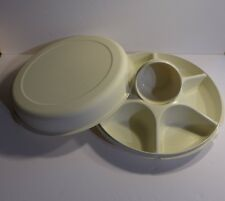Tupperware Serving Center Bowl Appetizer Hors d'oeuvres Divided Party Dish #1665