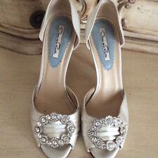 Oscar De La Renta White Satin Women Bridal Shoes Size 37