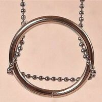 Creative Metal Ring and Chain Magic Trick Props Knot Ring Toys