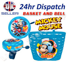 Disney MICKEY M Boy's Kids  Bike Cycle Shopping Front BASKET and BELL Ring Alarm