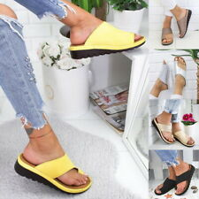 UK Womens Beach Sandals Comfy Platform Sandal Footed Shoes For Bunion Corrector