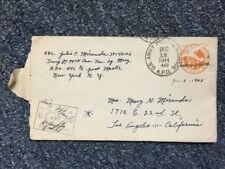 1944 U.S. Army Postal Service Envelope with Letter