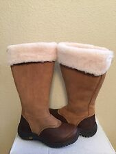 UGG MIKO TALL CHESTNUT WATER RESISTANT LEATHER Boot US 11 / EU 42 / UK 9.5 - NIB