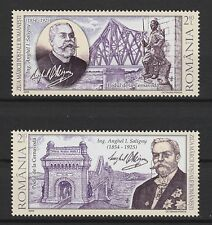 CHEMIN DE FER PONTS Lot de 2 MNH 2009 Roumanie #5117-8 Engineer Anghel I.SALIGNY