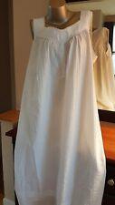 Croft & Barrow® Pajamas: Pintuck Long White Smocked Nightgown Size Medium