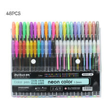 48 Colors 1.0mm Gel Pens Metallic Pastel Neon Glitter Sketch Drawing Color Pen