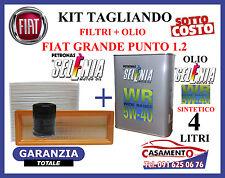 KIT TAGLIANDO FIAT GRANDE PUNTO 1.2 FILTRI + OLIO SELENIA WR 5W40
